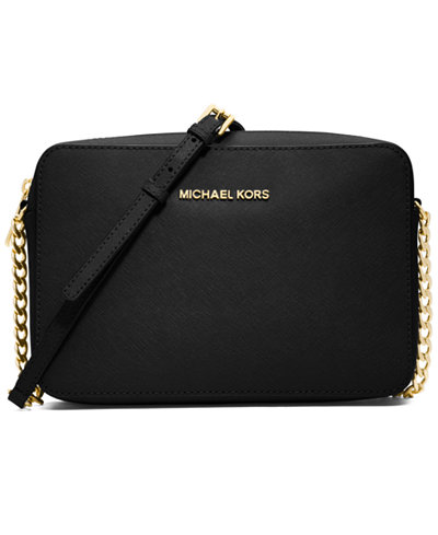 f908fe6d05b5e5 Michael Kors Jet Set Travel Black Crossbody Clutch Bag | Stanford ...