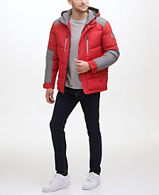 Men's Midweight Puffer with Reflective Tape Detail Jacket