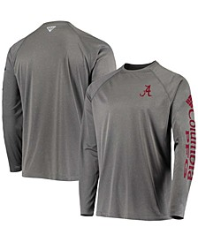 Men's Charcoal Alabama Crimson Tide PFG Terminal Tackle Omni-Shade Long Sleeve T-shirt