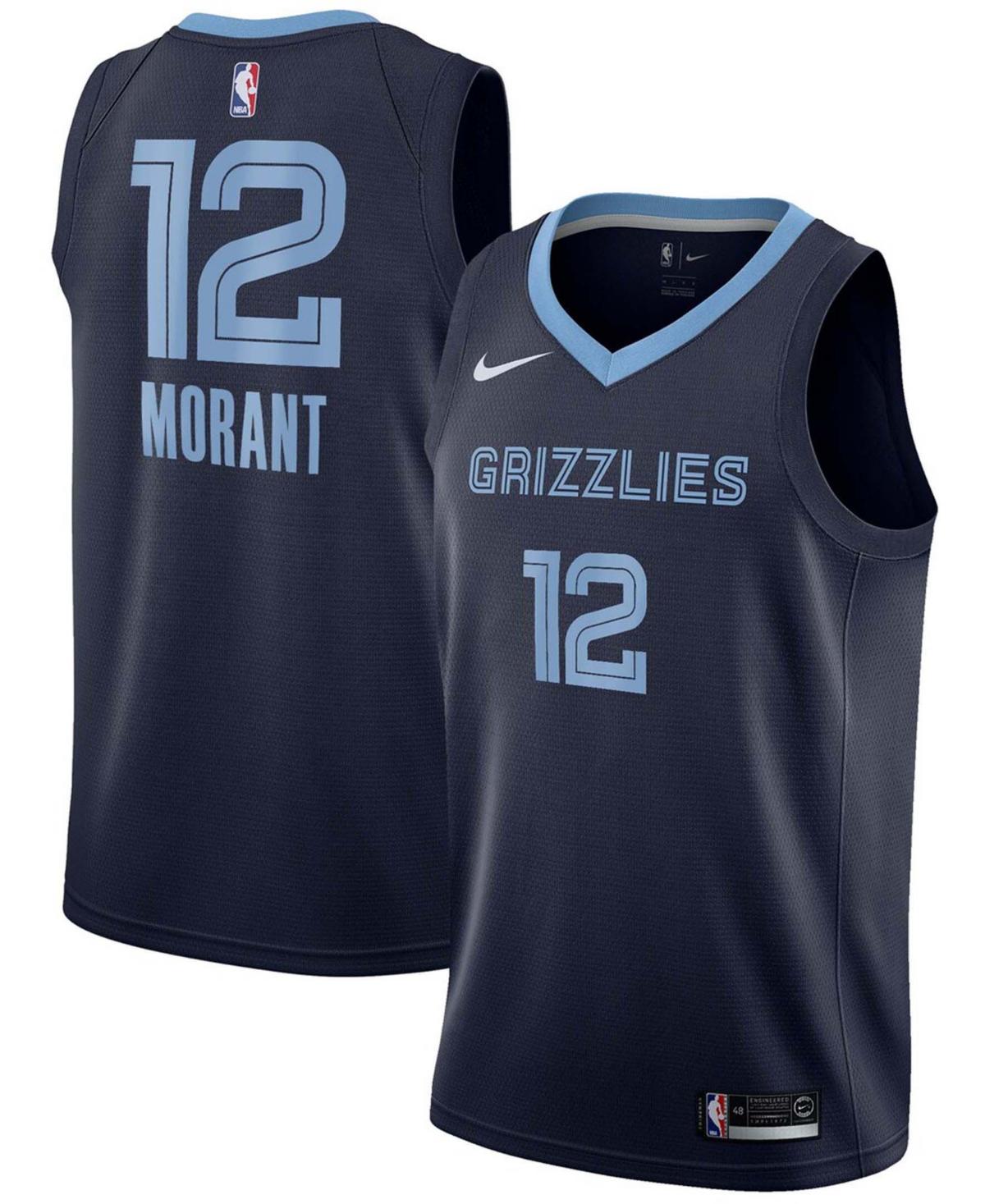 Men's Ja Morant Navy Memphis Grizzlies 2019 Nba Draft First Round Pick Swingman Jersey - Icon Edition