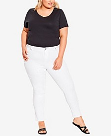 Plus Size Star Jeans