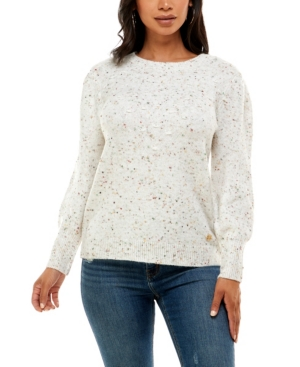 Women's Long Sleeve Stitched Front Sweater