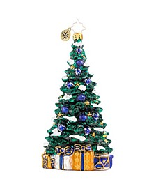 Shimmering in Sapphire Ornament