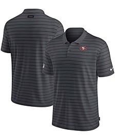 Men's Charcoal San Francisco 49ers Sideline Victory Coaches Performance Polo