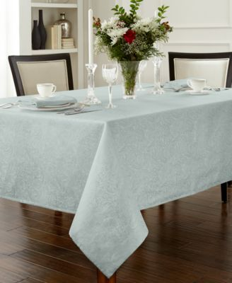 "Chelsea 70"" x 104"" Aqua Tablecloth"