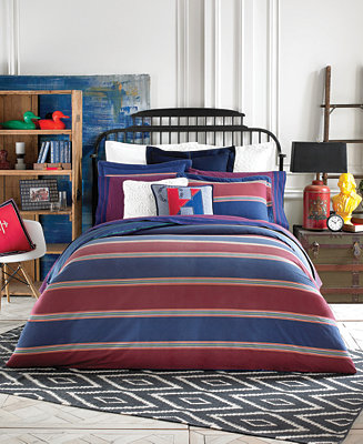 Closeout Tommy Hilfiger Amherst Stripe Twin Comforter Set Bedding Collections Bed Bath