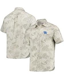 Men's Oatmeal Kentucky Wildcats Forest Fronds Button-Up Shirt