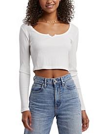 Splendid Ada Cotton Cropped T-Shirt