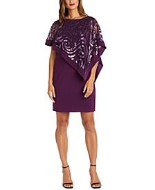 Petite Sequin-Overlay Dress