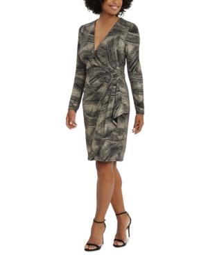Side-Ruched Metallic Dress