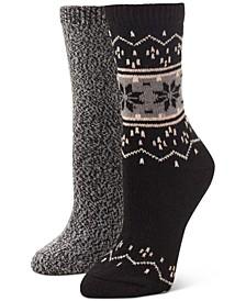 Women's 2-Pack Fair Isle Boot Socks