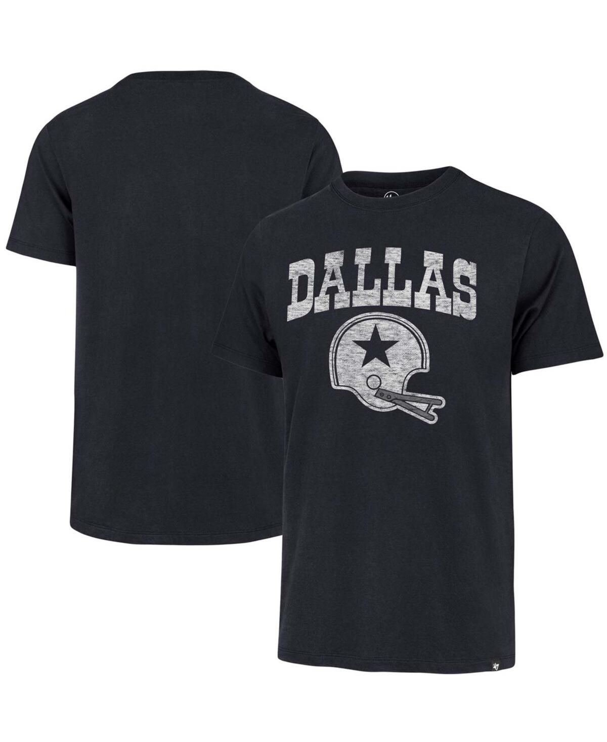 Mens Navy Dallas Cowboys Throwback Lockup T-shirt