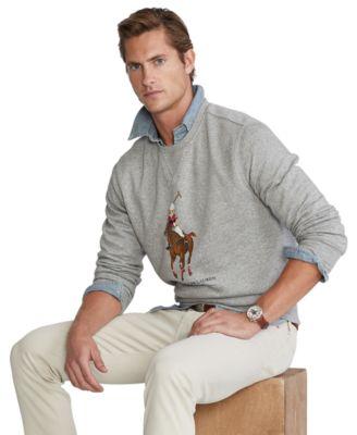 폴로 랄프로렌 맨 폴로 베어 맨투맨 Polo Ralph Lauren Mens Polo Bear Fleece Sweatshirt,Andover Heather Horse Bear