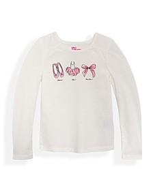Little Girls Ballet Long Sleeve Graphic T-shirt