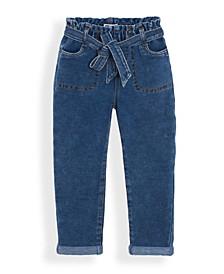 Little Girls Paper Bag Waist Jeans