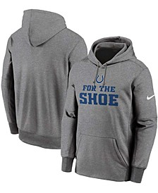 For The Shoe Men's Heathered Gray Indianapolis Colts Pullover Hoodie