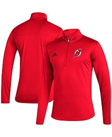 Men's Red New Jersey Devils Under The Lights Aeroready Quarter-Zip Jacket