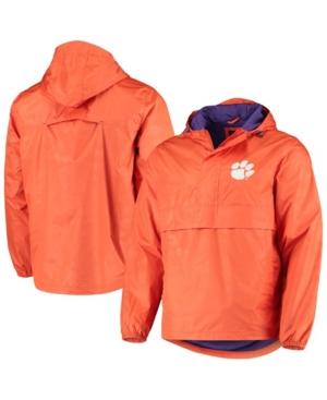 Men's Orange Clemson Tigers High Impact Hoodie Half-Zip Jacket