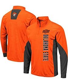 Men's Orange Oklahoma State Cowboys Bart Windshirt Quarter-Zip Jacket