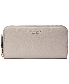 Roulette Zip-Around Continental Leather Wallet
