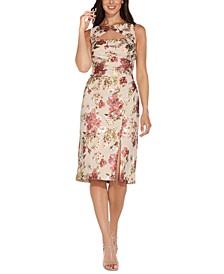 Floral-Print Cutout Sheath Dress