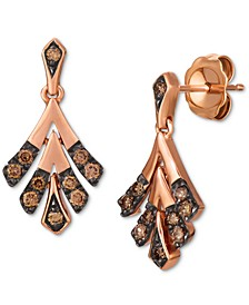 Chocolatier® Chocolate Diamond Drop Earrings (1/4 ct. t.w.) in 14k Rose Gold