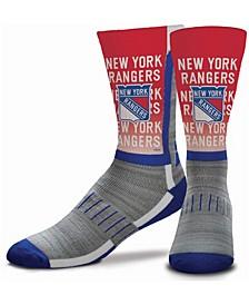 Youth Girls and Boys Multi New York Rangers Mascot V-Curve Crew Socks