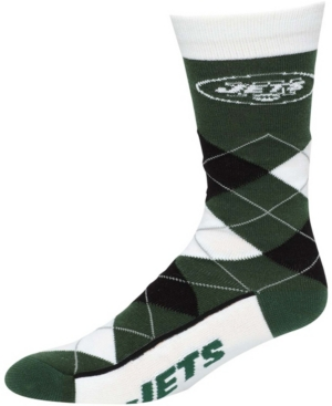 Men's New York Jets Team Argyle Multi Crew Socks