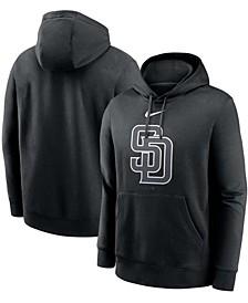 Men's Black San Diego Padres Fashion Logo Club Pullover Hoodie