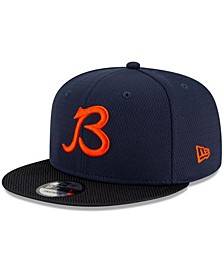 Youth Girls and Boys Navy, Black Chicago Bears 2021 NFL Sideline Road B 9Fifty Snapback Adjustable Hat