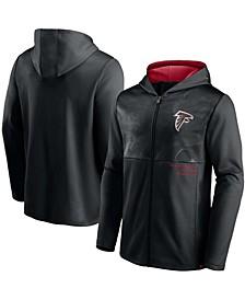 Men's Black Atlanta Falcons Defender Full-Zip Hoodie Jacket
