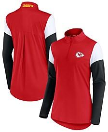 Women's Red, Black Kansas City Chiefs Block Party Team Authentic Quarter-Zip Jacket