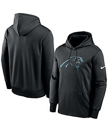 Men's Black Carolina Panthers Fan Gear Primary Logo Therma Performance Pullover Hoodie