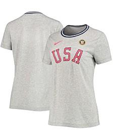 Women's Gray Team USA Olympic Heritage Tri-Blend T-shirt
