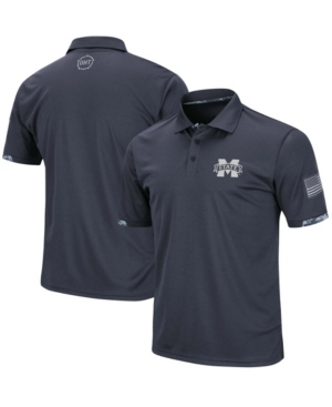 Men's Charcoal Mississippi State Bulldogs Oht Military-Inspired Appreciation Digital Camo Polo
