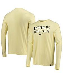 Men's Yellow Club America Voice Long Sleeve T-shirt