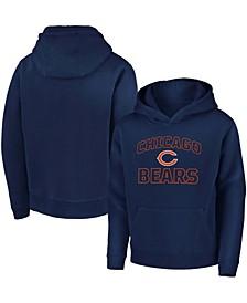 Youth Boy's Navy Chicago Bears Tie Breaker Pullover Hoodie