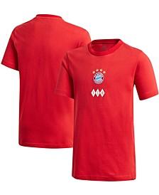 Youth Big Boys Red Bayern Munich T-Shirt
