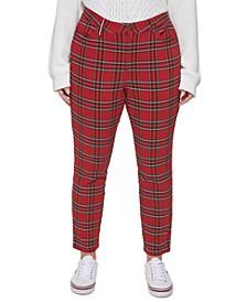 Plus Size Tribeca Plaid Pants