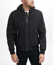 Men's Mid Weight Sherpa Hood Trim Soft-Shell Jacket