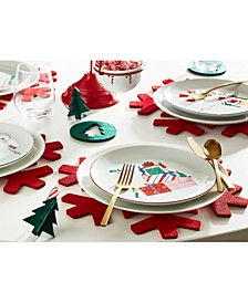 Holiday Salad Plates, Set of 4, Created for Macy's