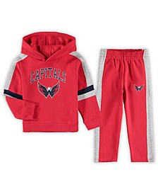 Toddler Red Washington Capitals Break Out Fleece Pullover Hoodie Pants Set
