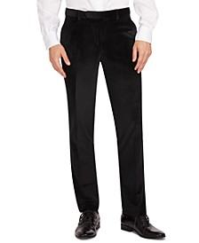 Men's Modern-Fit Velvet Suit Separate Pants