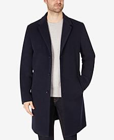 Men's Addison Wool-Blend Trim Fit Overcoat