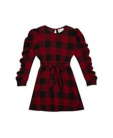 Big Girls Buffalo Check Knit Dress