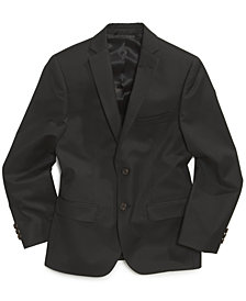 Lauren Ralph Lauren Solid Black Suit Jacket, Big Boys Husky