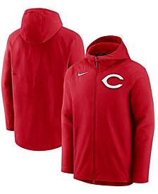 Men's Red Cincinnati Reds Authentic Collection Pregame Performance Full-Zip Hoodie