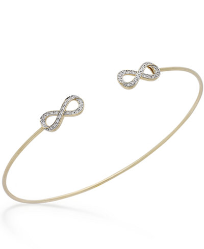 com bracelet white gold diamond amazon dp cttw infinity