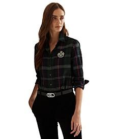 Crest Plaid Cotton Twill Shirt