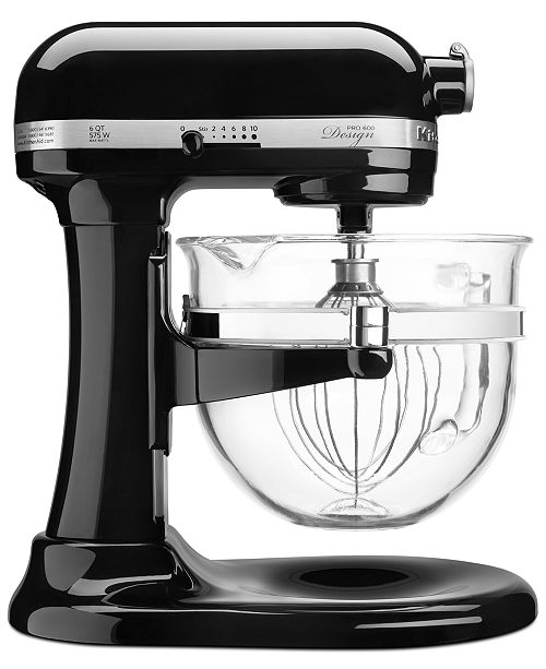 Kitchenaid Kf26m22 Professional 600 Stand Mixer With Glass Bowl